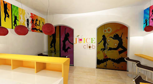 Juice Club:  Commercial Spaces by Gurooji Design