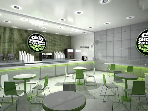 Chill Glorious Ice Cream shop:  Commercial Spaces by Gurooji Design