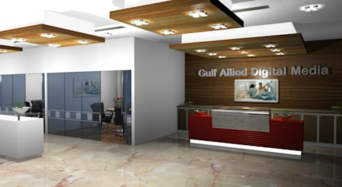 Dubai Allied Digital Media Office:  Offices & stores by Gurooji Design