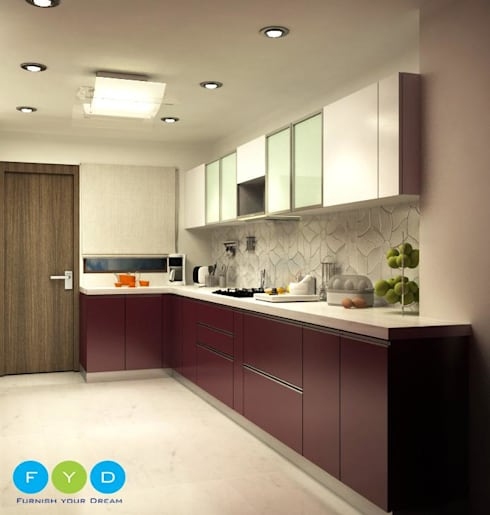 <q class='-first'>Life should be chic, glamorous and colorful—and so should your home.</q> : modern Kitchen by FYD Interiors Pvt. Ltd