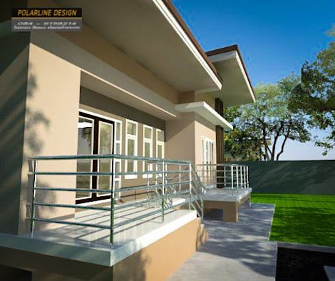 บ้านพักอาศัยชั้นเดียว:   by แบบบ้านออกแบบบ้านเชียงใหม่