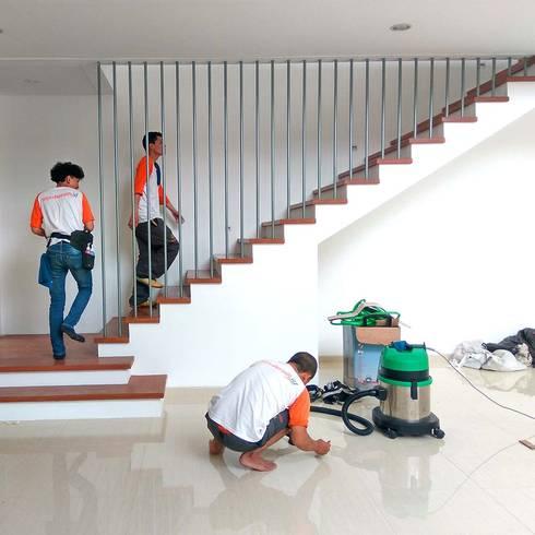 Jasa bersih lantai :  Dinding by SapuBersih.id