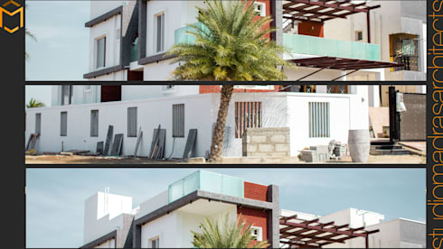 Facade: minimalistic Houses by Studio Madras Architects