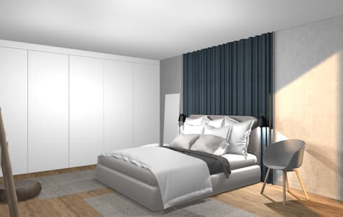 3d stylisches schlafzimmer von wohnly homify Schlafzimmer einrichten 3d