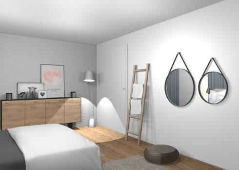 3D Stylisches Schlafzimmer von wohnly | homify