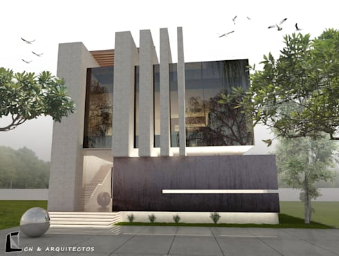 PROYEC CN : Casas de estilo moderno por CN y Arquitectos