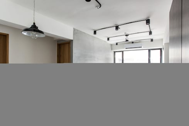 清新工業風 公寓設計:  客廳 by 好家空間設計工作室
