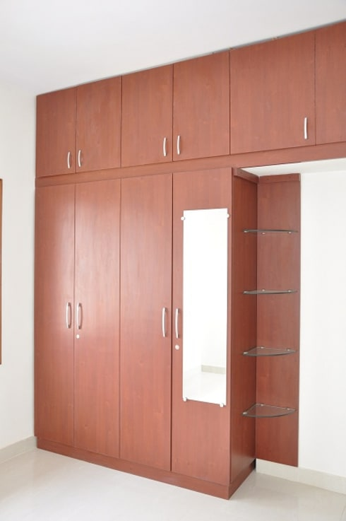 Scale inch portfolio 2bhk complete interior for laa for Contemporary wardrobe designs india