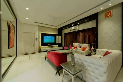Living Area: modern Living room by Dzign thoughts