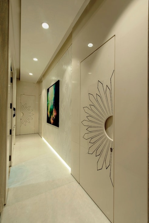 Living Area:  Corridor & hallway by Dzign thoughts