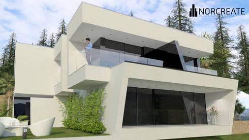 Habitação Unifamiliar D+P:   por NORCREATE - Arquitectura & Engenharia
