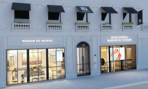 Office de tourisme du maroc à paris by point r architecture homify