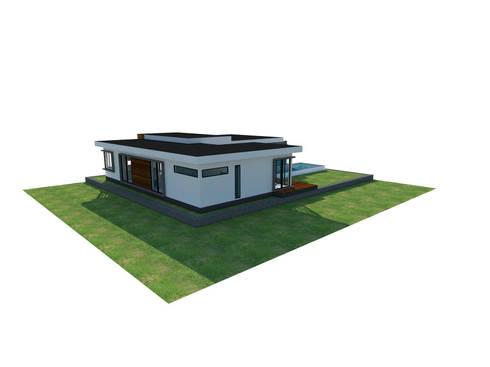 ชั้นเดียว เรียบง่าย modern:   by FULL HOUSE Design
