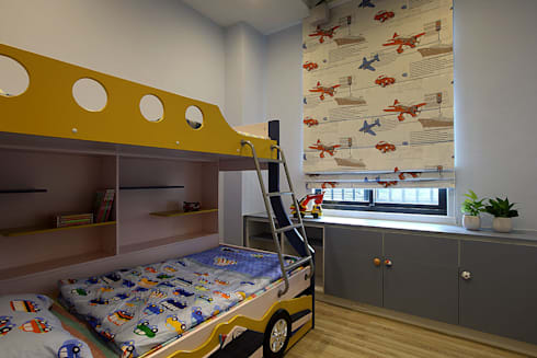 <低預算>舊屋翻新-小家庭的夢想家:  嬰兒/兒童房 by 夏川空間設計工作室