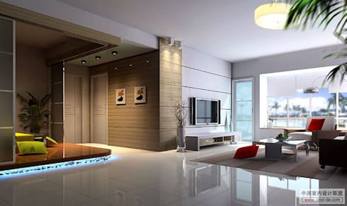 modern Living room by Mithi Interiors Private Limited