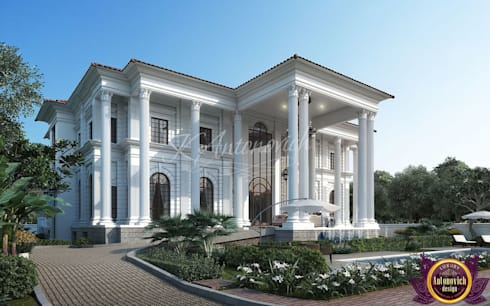   Facade Design in the classical style from Katrina Antonovich: classic Houses by Luxury Antonovich Design