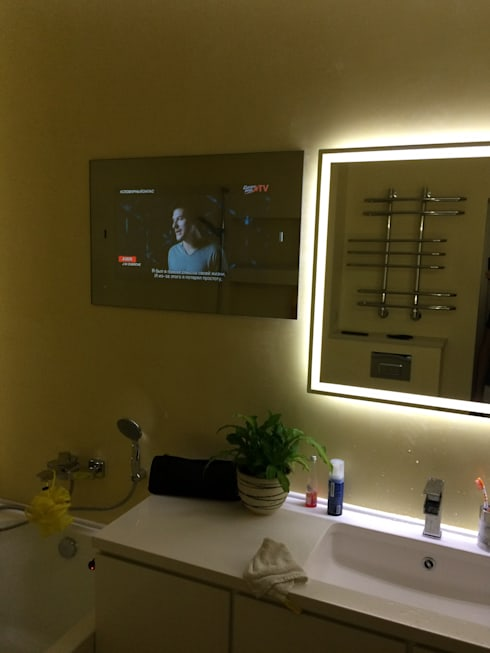 Mirror TV: modern Bathroom by AVEL