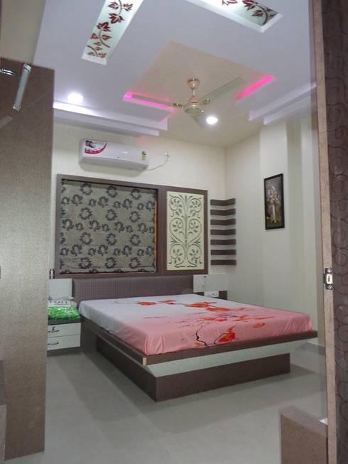 damka village: modern Bedroom by SHUBHAM CONSULTANT & INTERIOR DESIGNING