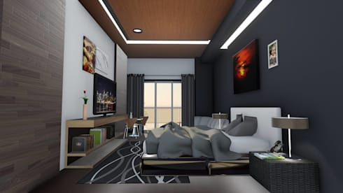 CONDO  HOTEL  ONEBEDROOM:  ตกแต่งภายใน by SABPAROD STUDIO