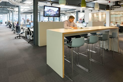 Architects Office Refurbishment:  Office spaces & stores  by James Rowland Photography