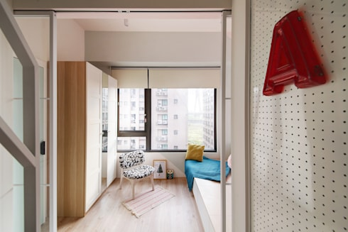 隔屏與裝飾:  臥室 by 一葉藍朵設計家飾所 A Lentil Design