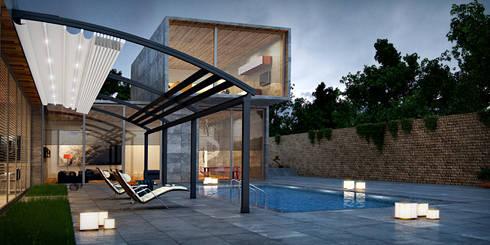 Architectural Pergola: modern Houses by Atria Designs Inc.