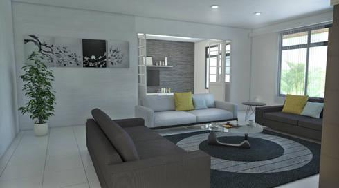 Sala principal: Salas de estilo moderno por Arquitecto Pablo Restrepo