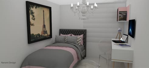 habitacion glamour: Habitaciones de estilo clásico por Naromi  Design