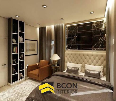 งานออกแบบบ้านเดี่ยว 3 ห้องนอน:  ตกแต่งภายใน by Bcon Interior