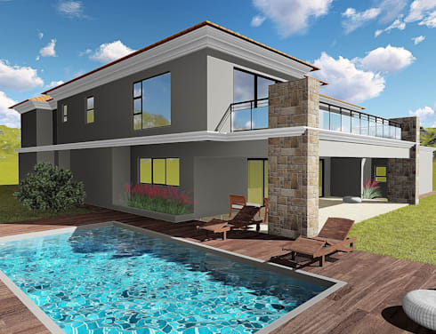 Crystal Park Benoni: modern Houses by Blackstructure Architects