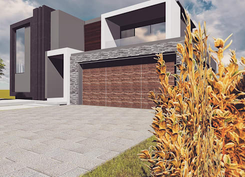 Cressentwood estate Midrand: modern Houses by Blackstructure Architects