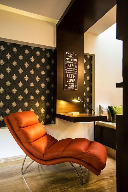 Bedroom-2:  Bedroom by Studio An-V-Thot Architects Pvt. Ltd.