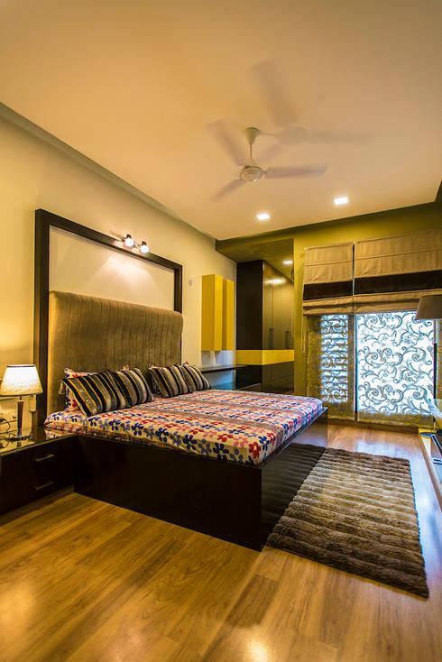 Bedroom-3:  Bedroom by Studio An-V-Thot Architects Pvt. Ltd.