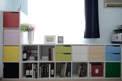 男主人工作室-工作區與閱讀區:  書房/辦公室 by 大觀創境空間設計事務所