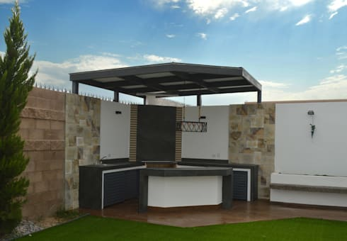Patio asador santos residencial de daniel teyechea for Asadores modernos para patio