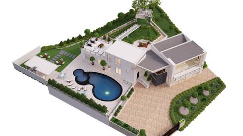 render anapoima arte 3d fusagasuga: Casas de estilo minimalista por okull creativo