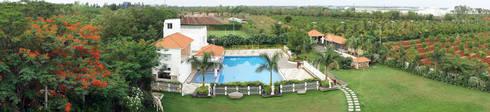 Swimming pool: mediterranean Garden by iammies Landscapes