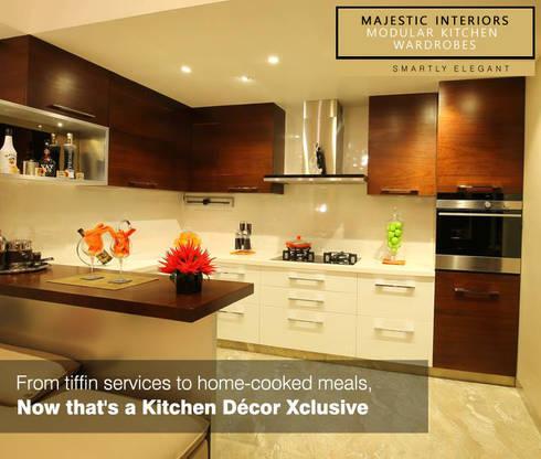 INTERIOR DESIGNERS IN FARIDABAD: asian Kitchen by MAJESTIC INTERIORS
