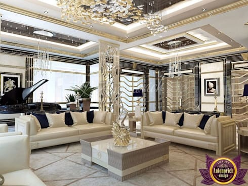   Apartment interior Dubai of Katrina Antonovich: modern Living room by Luxury Antonovich Design
