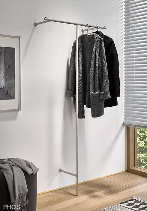 Kleiderständer Edelstahl Design kleiderständer und garderobenständer in edelstahl design by phos