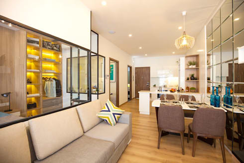 Nhà mẫu 5 sao – dự án The Western Capital:   by Studio 3 - ONG&ONG Co., Ltd