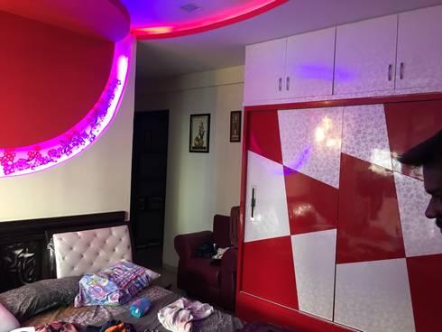 3bhk flat at sanath nagar: modern Bedroom by studio B.A.D
