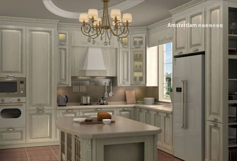 YALIG Solid Wood Kitchen Cabinets: classic Kitchen by YALIG Kitchen Cabinet