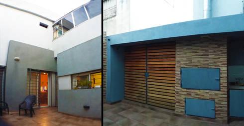 Casa M_1087: Jardines de estilo moderno por ELVARQUITECTOS