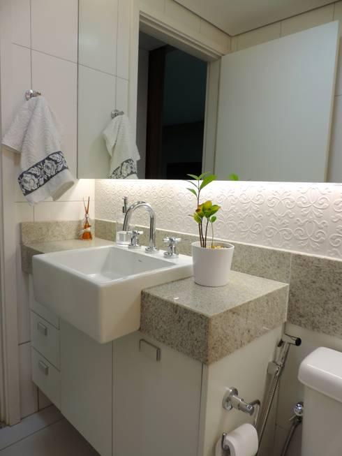 Apartamento LP: Banheiros modernos por Escritório 238 Arquitetura