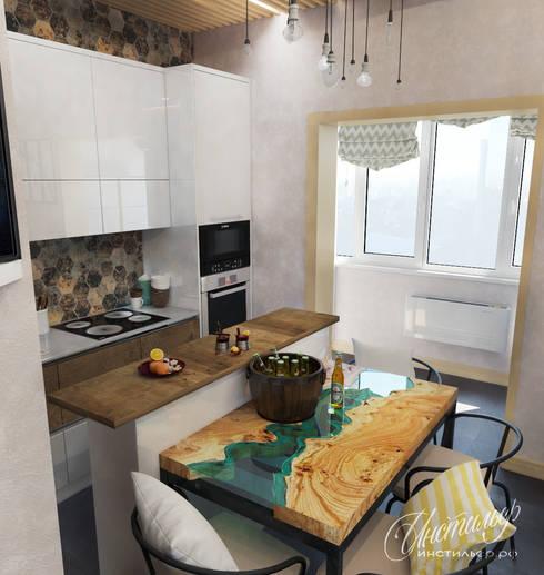 Nhà bếp by Студия Инстильер   Studio Instilier