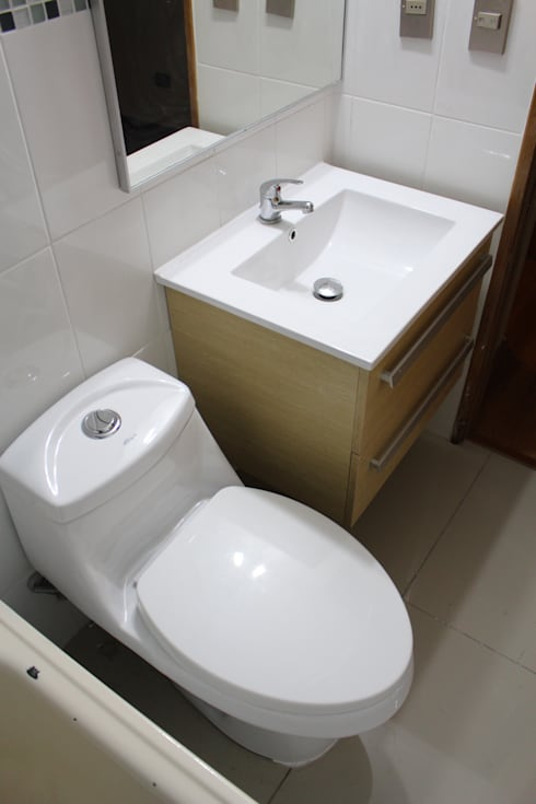 Remodelación Baño Visitas San pascual, Las Condes:  de estilo  por Constructora Acuña