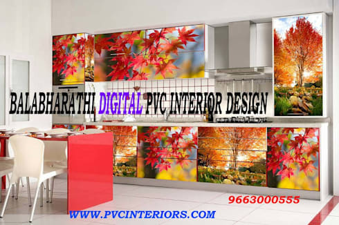 Modern Kitchen By Balabharathi Pvc Interior Design