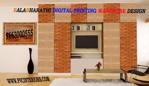 digital wardrobe digital bedroom digital wallunit:  Interior landscaping by balabharathi pvc interior design