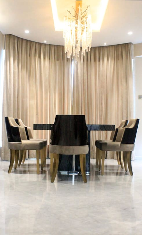 ETHNIC TOUCHE: asian Dining room by MIDAS DESIGN STUDIO